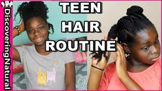 My Natural Hair Routine for Teens   Wash Day, Moisturizing, Night Routine - YouTube