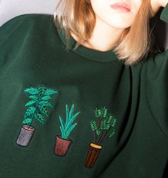 Potted Plants Sweater  Kozy  Use the code 'LittleAlien' to get 10% off!
