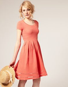 knit dress. love the color.