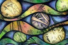 Esferas Acuarelas y tinta china