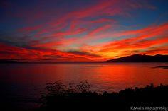 Fiery Maui Sunset