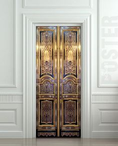 Door STICKER old baroque house enter doors mural decole film self-adhesive poster 30x79(77x200 cm) / Probably the coolest thing. EVER.