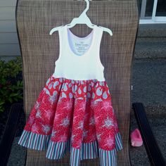 Just made Adalyn's 4th of July dress!