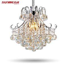 2017 Luxury Pha Lê Chandelier Living Room Lamp láng bóng de cristal Đèn trong nhà Pha Lê Mặt Dây Cho Chùm Vận chuyển Miễn phí