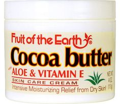 Fruit of the Earth Skin Care Cream - Cocoa Butter (113 g)