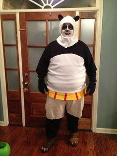 Kung Fu Panda costume Po Kung Fu Panda Costume, Po Kung Fu Panda, Panda Costumes, Halloween 2016, Halloween Party, Halloween Costumes, Halloween Ideas, Chewbacca, Tim Burton