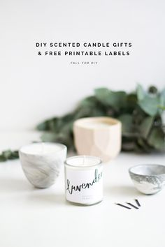 DIY Scented Candle Gifts & Free Printable labels | @fallfordiy