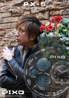 PIXO, PX-5 Time Panel, Dual time display, strong and heavy duty outdoor design, multi-eyes design, multi-funciton includes: Stopwatch, Alarm and hourly chime. Please see the details at : http://www.pixowatch.com/PIXO-PX-5  Thanks: Models >UMI✫KUUN, Hair make up>Hiroko(HIKUTEI), Photographer >Yutaro Takahashi(HIKUTEI)  #pixo #PX_5 #watch #design #watch_design #pixowatch #timepanel #new_design #new_watch #UMI_KUUN #Hiroko #HIKUTEI #Yutaro_Takahashi #Airu_Hino #Kry