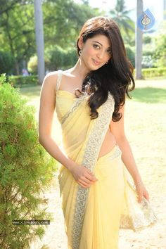 Hot Pranitha Latest Photo Gallery in Yellow Saree - Actress Album