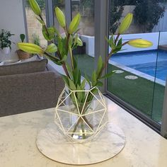How good is this DIY? Kim from @inspiredquarters sprayed this Kmart geo holder white then used it as a vase instead of a candle holder. Thanks for tagging us Kim. Don't forget to tag us in your DIY project to be featured.