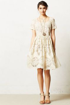 Love this pretty ivory dress - and the back is just as pretty!