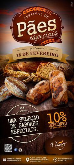 Festival de Pães especiais com 10% de desconto.