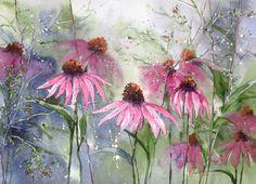 Akwarela kwiaty obraz - JESIENNE OGRODY (5747151114) - Allegro.pl - Więcej niż aukcje.