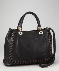 Take a look at this Black Stitch Tote by Segolene Paris on #zulily today!