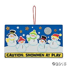 Frosty is not the only snowman who likes to play! This Christmas craft for kids will get their snow ball fight and winter playtime imaginations goings! 10 x 5 ...