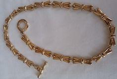 Vintage, anni '70, Pierre Cardin necklace, collana colore oro
