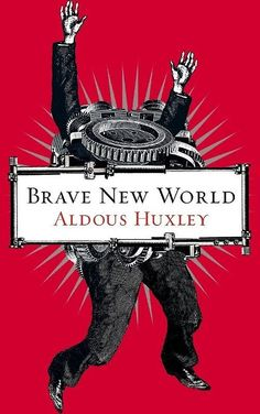 'Brave New World - Aldous Huxley Cover' Poster by SpartanCell Brave New World Book, Good Books, My Books, Aldous Huxley, Best Book Covers, Science Fiction Books, Classic Books, Illustrations, Book Cover Design