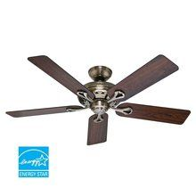 """View the Hunter 53105 Savoy 52"""" 5 Blade Energy Star Ceiling Fan - Blades Included at LightingDirect.com. $139.00"""