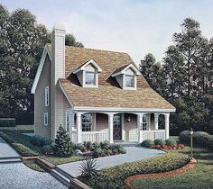 Country Appeal for a Small Lot - 57027HA | Cottage, Country, Narrow Lot, 1st Floor Master Suite, PDF | Architectural Designs