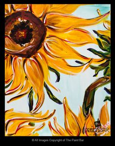 Giant Sunflower www.thepaintbar.com