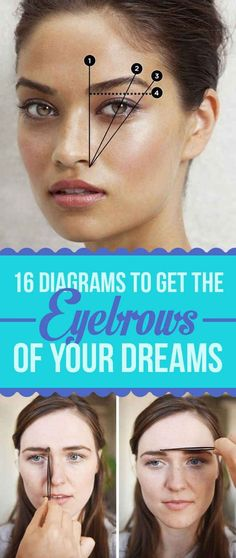 16 Eyebrow Diagrams That Will Explain Everything To You. You know, in case I'm forced to do it on my own. #eyebrows: