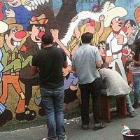 Restauran mural de Familia Burrón