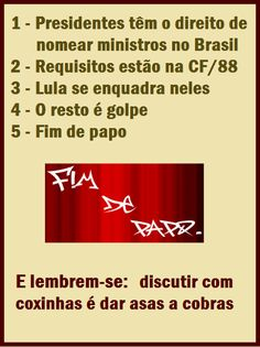 Sala Fério: FIM DE PAPO