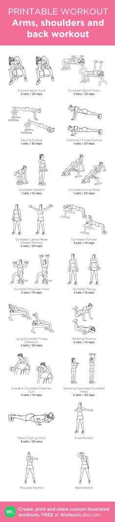 Arms, shoulders and back workout  @WorkoutLabs #workoutlabs #customworkout