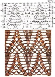 This is is great graph pattern for a long crochet sweater