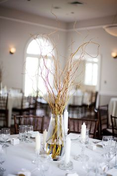 Simply curly willow centerpiece