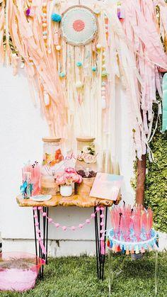 Backyard Birthday Parties, Outdoor Birthday, 13th Birthday Parties, Birthday Party For Teens, Sleepover Party, Third Birthday, Bohemian Party Decorations, Birthday Party Decorations, Coachella Party Decorations