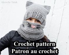 *** THIS LISTING IS FOR THE CROCHET PATTERN ONLY, NOT A COMPLETED ITEM *** -------------------------------------- LANGUAGES: English AND French. (You will receive 2 PDF) -------------------------------------- SKILL LEVEL: Intermediate -------------------------------------- FINISHED