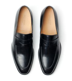 Abe Penny Loafer - Black Full Grain - Jack Erwin