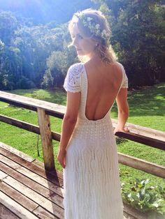 Vestido de noiva em croche
