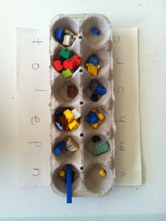Spelling game with Legos - My Reluctant Learner