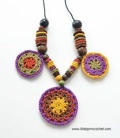 mandala necklace free #crochet pattern by lillabjorn