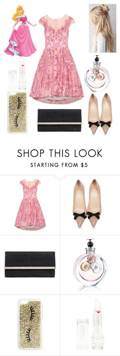 """""""Prom Aurora  💤 (Sleeping Beauty)"""" by mikayla-burgess ❤ liked on Polyvore featuring Notte by Marchesa, Christian Louboutin, Jimmy Choo, Valentino, Miss Selfridge and Forever 21"""