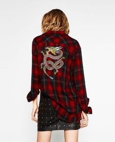 CHECKED SHIRT-VELVET CRUSH-WOMAN | ZARA United States