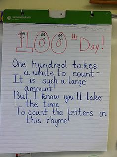 100 day poem... 100 letters in it!