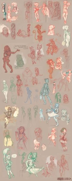 sketches from 2012 and 2013