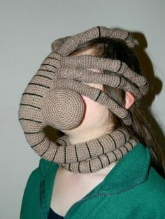 A crochet facehugger from Alien. For the days I don't feel like talking to anyone when I'm walking the dog .