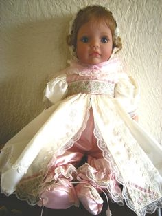 """Memories"" By, Susan Wakeen - Part of the Signature Series - Top of the line toddler/baby dolls - She is soft vinyl and VERY RARE! With her cute baby pants and booties you can see under her dress."