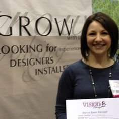 Sydney Verd from Custom Decorators, booth 531. Great company to work for.