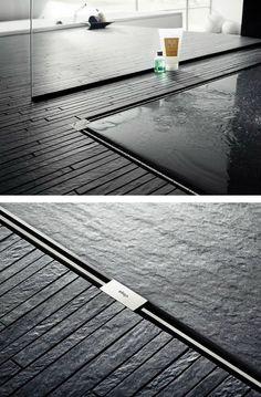 Stainless steel #shower channel detail. ADVANTIX VARIO by Viega Italia