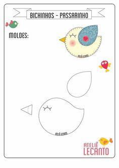 moldes de passarinho em feltro - Pesquisa Google