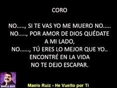 Maelo Ruiz - He vuelto por ti - CON LETRA - YouTube