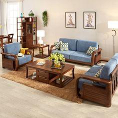 Wooden Sofa Set, Wood Sofa, Teak Wood, Dream Furniture, Home Decor Furniture, Outdoor Furniture Sets, Mid Century Sideboard, Teak Sideboard, Brown Sofa Set