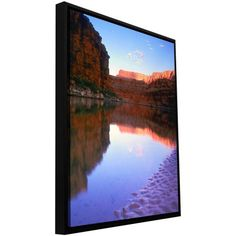 ArtWall Dean Uhlinger Marble Canyon Sunrise Floater Framed Gallery-Wrapped Canvas, Size: 24 x 32, Blue