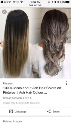 albums of balayage on ash brown hair Hair Color And Cut, Brown Hair Colors, Hair Colour, Ash Color, Blonde Grise, Cabelo Ombre Hair, Ash Hair, Brunette Hair, Colorful Hair