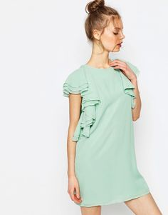 ASOS+Ruffle+Front+Mini+Shift+Dress